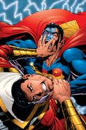 Captain Marvel and Superman Clark Kent