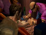 Tony getting a tattoo