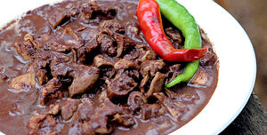 Dinuguan with peppers