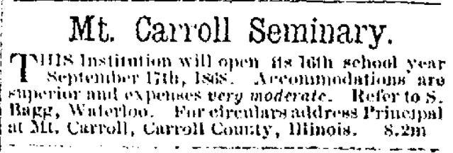 File:Waterloo Courier.1868-08-13.Mt Carroll Seminary.jpg