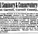 Davenport Gazette/1884-01-25/Mount Carroll Seminary and Conservatory of Music