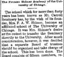 Waterloo Daily Courier/1896-07-23/The Frances Shimer Academy of the University of Chicago