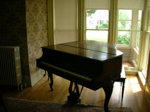 Waukegan Hutchins building interior piano