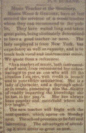 Republican.1856-05-02.Music teacher at the seminary