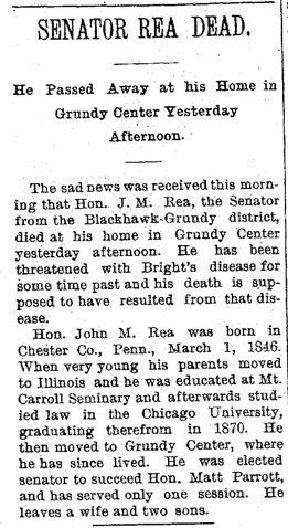 File:Waterloo Daily Courier.1895-08-26.Senator Rea Dead.jpg