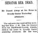 Waterloo Daily Courier/1895-08-26/Senator Rea Dead