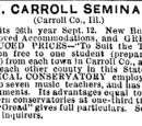 Freeport Journal/1878-07-31/The Mt Carroll Seminary