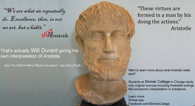 File:Aristotle Excellence then is not an act but a habit Durant.jpg