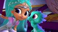 Shimmer and Shine Princess Samira and Nazboo the Dragon