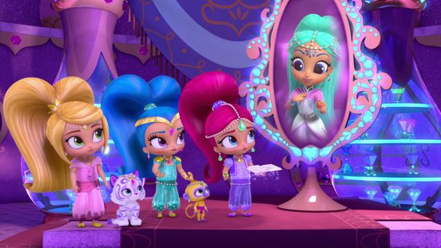 File:Princess Samira, Shimmer, Shine, and Leah SP.png