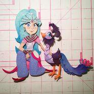 Shimmer and Shine Roya the Peacock and Princess Samira Production Art