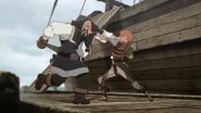 Favaro and Amon fighting as reunion