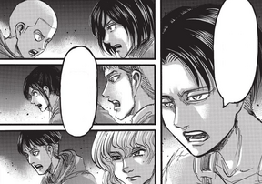 Levi orders the advance into the chapel
