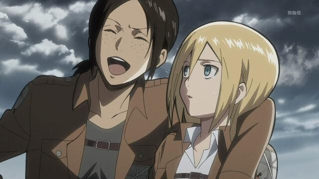 File:Shingeki no kyojin-06-ymir-christa-laughing-comedy-friendship-scouting team-lesbian lovers.jpg