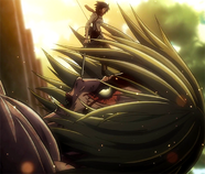 Mikasa intercepts Annie.png