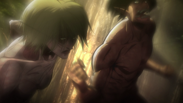 File:Eren strikes the Female Titan.png