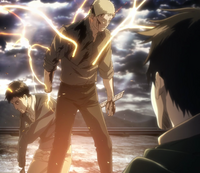Reiner and Bertholdt begin their transformation