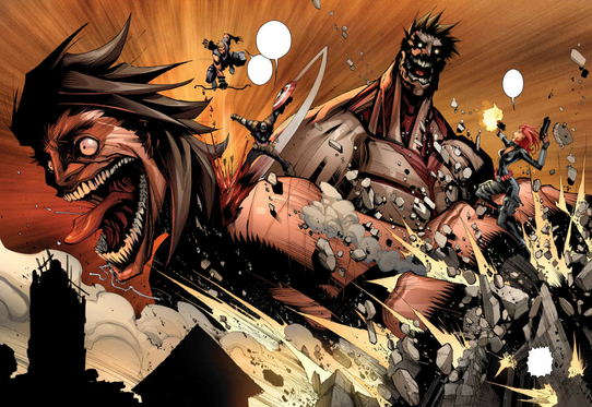 File:Black Widow, Captain America and Hawkeye fight the Armored Titan.png