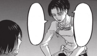 Levi and Mikasa talking about Kenny