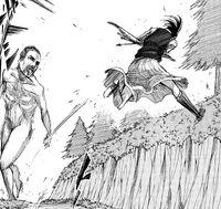 Sasha fighting a Titan