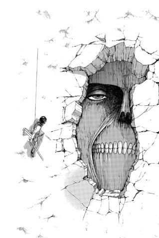 File:Mikasa and the Wall Titan.png