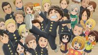 AOT JH Whole cast's celebration