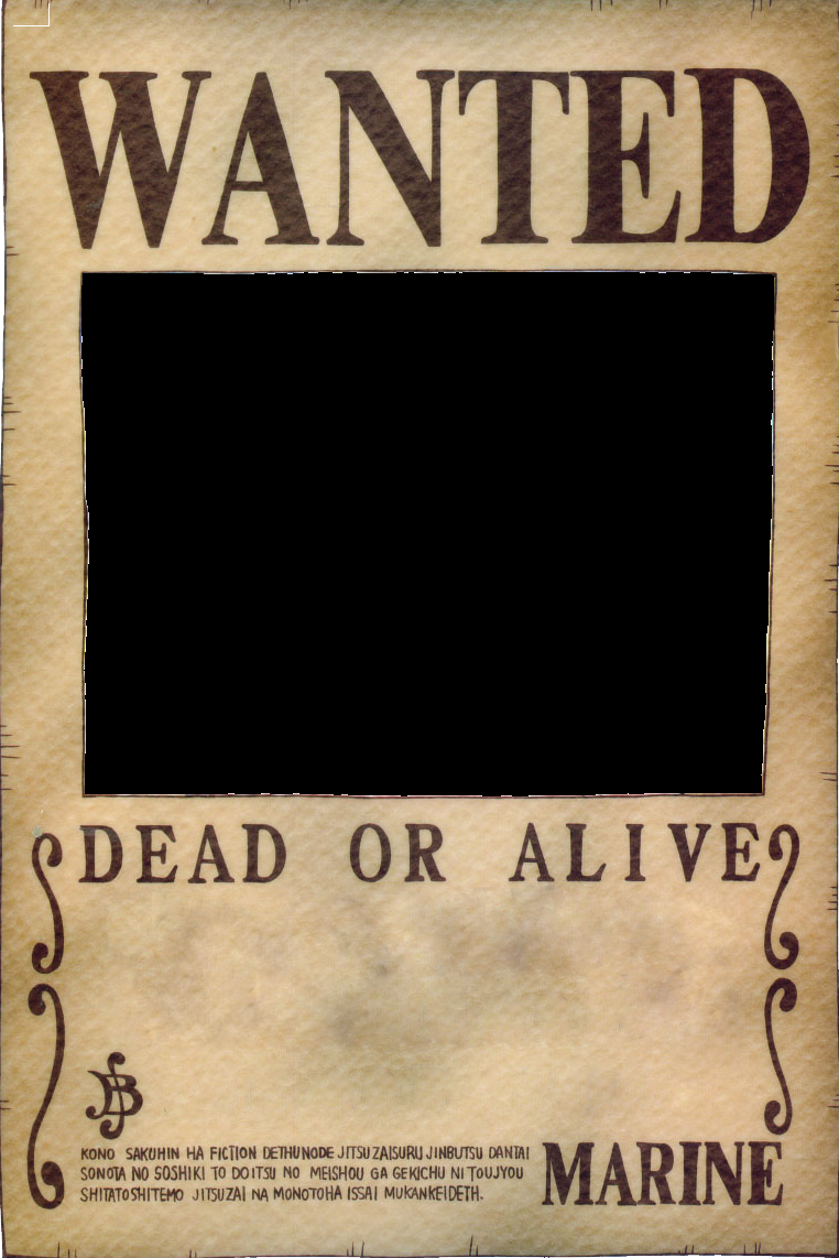 User blog 1nf3rno making your very own wanted poster - One piece wanted poster ...