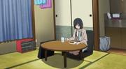 Ema eating alone (Shirobako Episode 7)