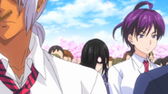 Miyoko, Nao and Akira listening to opening speech