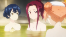Polar Star girls at the bath