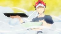Sōma presenting his dish against Subaru (anime)