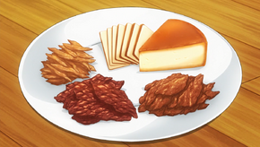 Smoked Cheese and Three Types of Jerky (anime)