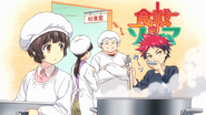 Young Sōma cooking (anime)