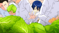 Megumi struggles to get the ingredient