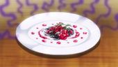 Dried Sardines Garnished with Strawberry Jam