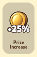 Price Increase +25%