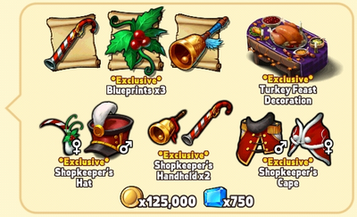 Holiday Package Contents