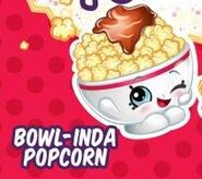 Bowlinda popcorn art w polly and popette