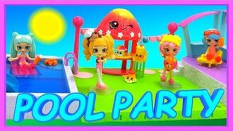 Shopkins Happy Places Happy Home Pool and Sun Deck Playset Toys TALKING to each other video