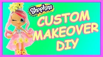Custom Shopkins Season 7 MAKEOVER TALKING Bridie doll DIY How To Make Glitter Shoppies