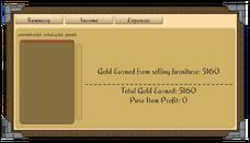 Finance scroll income
