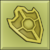Item icon solid gold shield