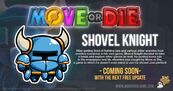 Promotional image for shovel knight move or die character