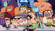 Trevor with fork