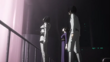 Kobayashi and Yure explain about the Gauna-Human hybrid or 'Chimera' to Nagate