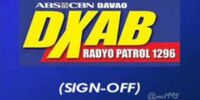 DXAB-AM 1296kHz Sign On and Sign Off