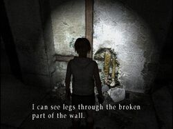 Corpse in the wall