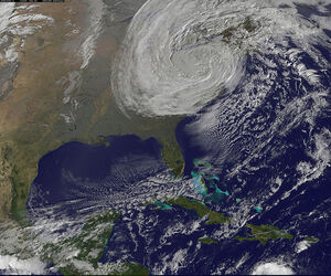 Satellite View of Post-Tropical Cyclone Sandy on Oct. 30