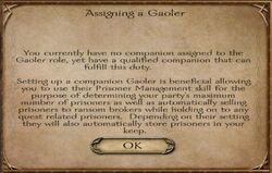 Assigning a Gaoler - small