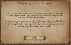 Assigning a Storekeeper - small